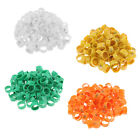 100pcs 20mm Clip Plastic Numbered Pigeon Leg Bands Duck Chicken/ Goose Rings