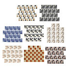 Blesiya 18x Square Self Adhesive Tile Stickers Home Decor Kitchen Wall Decal