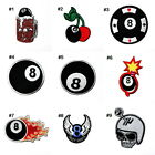 Casino Lucky 8 Ball Pool Billiards Poker card DIY Clothes Jacket Iron on patch $3.95 CAD on eBay