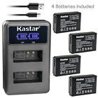 Kastar Battery LCD Dual Charger for Canon LP-E12 LC-E12 & Canon EOS M50 Camera