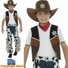 Texan Cowboy Costume Western Wild West Childs Kids Boys Fancy Dress Costume