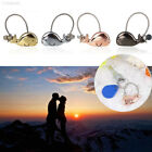 8FA8 2pcs Metal Cute Whale Key Ring Pendant Car Keychain For Lovers Couples Gift