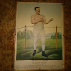 Currier & Ives Boxing poster of Paddy Ryan, world heabyweight boxing champion