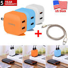 Universal 5V 2A Wall Charger Adapter 2-Port Dual USB Fast Charger For iPhone