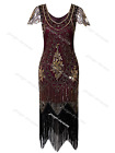Art Deco 1920s Vintage Flapper Beads Gatsby Wedding Party Evening Cocktail Dress