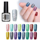 LEMOOC 8ml Funkeln UV Gellack Bling Sequins Soak Off  Sky Nagel Kunst Gel
