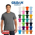 Gildan Dry Blend T-Shirt Blank Solid Mens Short Sleeve 50/50 Wicking Plain 8000 image