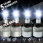 4 Bulbs 9006 9005 LED Headlight 6000K Conversion Kit High Lo Beam 4000W Headbulb