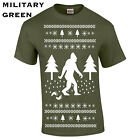 359 Sasquatch Ugly Christmas Sweater Mens T-Shirt funny new gift cool present