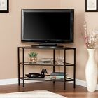 MTS11042 METAL / GLASS BLACK CORNER T.V STAND
