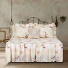 Twin Full Queen or King Quilt Floral Flowers Ruffle Bedspread Bedding Set image