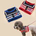Cute Stripe Sailor Pet Dog Cat Harness Vest and Leash Set Dog new type