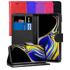 For Samsung Galaxy Note 9 Case - Premium Leather Wallet Flip Case Cover + Screen