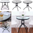 Ornamental Tempered Glass Top Table Dining Table Round/Square For Outdoor Garden