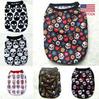 Skull Printed Vest Pet Clothes Dog Clothes Spring Summer Pet Outfits Costumes US