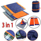 3 in 1 Double Sleeping Bag Waterproof Outdoor Camping Hiking W/ Carrying Bag