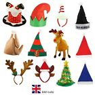 NOVELTY CHRISTMAS HATS Xmas Office Party Festive Fancy Dress Accessories Lot UK