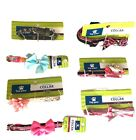 Dog Collar XXS XS Small for Walking Lead Pink Blue Bows Flowers Adjustable Cute