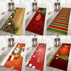 Christmas Non-slip Flannel Fabric Area Mat Rubber Back Bath Rug Home Floor Mats