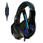 Somic Stereo Gaming Headset Headphone with Microphone Blue LED For PC Gamer Q1Y7