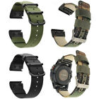 For Garmin Foretrex 601/701 Woven Nylon Sport Watch Band Strap with Clasp