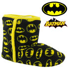KIDS BOYS BATMAN WINTER FUR COMFORT WARM WINTER SLIPPERS SHOES BOOTS BOOTIES