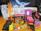 Huge Lot Monster High Freaky Fusion Catacombs Furniture, Accessories & More