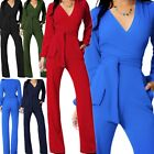 Внешний вид - Women Jumpsuit Romper Long Sleeve Pants Playsuit Clubwear Trousers Dress Outfit