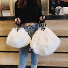 Convertible Faux Fur Single Shoulder Bag Crossbody Purse Handbag Bag 2 sizes