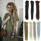 Handmade Synthetic Dreadlocks Hair Extensions Folded 50cm Long Double End Dreads