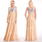 Women Ladies Formal Wedding Evening Ball Gown Party Prom Bridesmaid Maxi Dress
