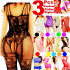 Внешний вид - 3 Women Bodystocking Sexy Lingerie Babydoll Bodysuit Sleepwear Stocking Dress US