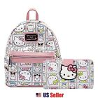 Loungefly x Sanrio Hello Kitty Mini Leather Backpack, Long Wallet image