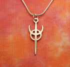 Clavicula Nox Necklace, Stainless Steel Symbol Charm Pendant Draconian Wicca