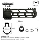 "Ohhunt 7"" 9"" 10"" 12"" 13.5"" 15"" Free Float Hand guard M-LOK Handguard with NutScope Mounts & Accessories - 52510"