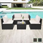 Vidaxl Patio Outdoor Rattan & Wicker Sofa Lounge Set Garden Seat Brown/black