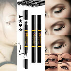 Dual-head Lidstrich with Stamp Makeup Black Eye Definer Pencil Beauty Kosmetik