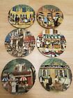 Guy Buffet Marche Aux Fleurs Dinner Plates SIX to Pick out from Vintage Excellent
