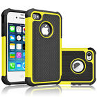 For iPhone 5C Shockproof Armor Hybrid Dual-Layer Rubber Matte Hard Case Cover