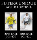 FUTERA UNIQUE WORLD FOOTBALL 2016 2018 BASE CARD SOCCER CHOOSE PLAYER $1.99 USD on eBay