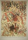 """VTG Maxfield Parrish Art Print Magazine Cover TONED ** 9"""" x 12"""" SEE VARIETY"""