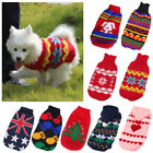Dog Knit Sweater Chihuahua Clothes Winter Knitwear Pet Puppy Jumper Apparel