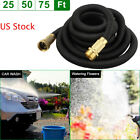 Latex Deluxe 25 50 75 Feet Durable Expandable Flexible Garden Water Hose Pipe US