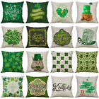 St. Patrick's Day Cotton Linen Cushion Cover Throw Pillow Case Home Decor 18inch