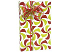 Red Lime Green FESTIVE HOLIDAY TWIST Christmas Gift Wrap Wrapping Paper - 16ft