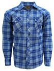 Western Shirt for Men- Casual, Long Sleeve, Plaid with Pearl Snaps