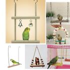Wooden Activity Swing For Parrots with Bells for African Grey Cockatoo Macaw