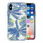 For Apple iPhone XS Max Silicone Case Palm Trees Tropical Green - S1196