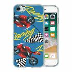 For Apple iPhone 8 Silicone Case Motorbike Pattern - S2689
