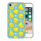 For Apple iPhone 8 Silicone Case Rubber Ducks Pattern - S2728